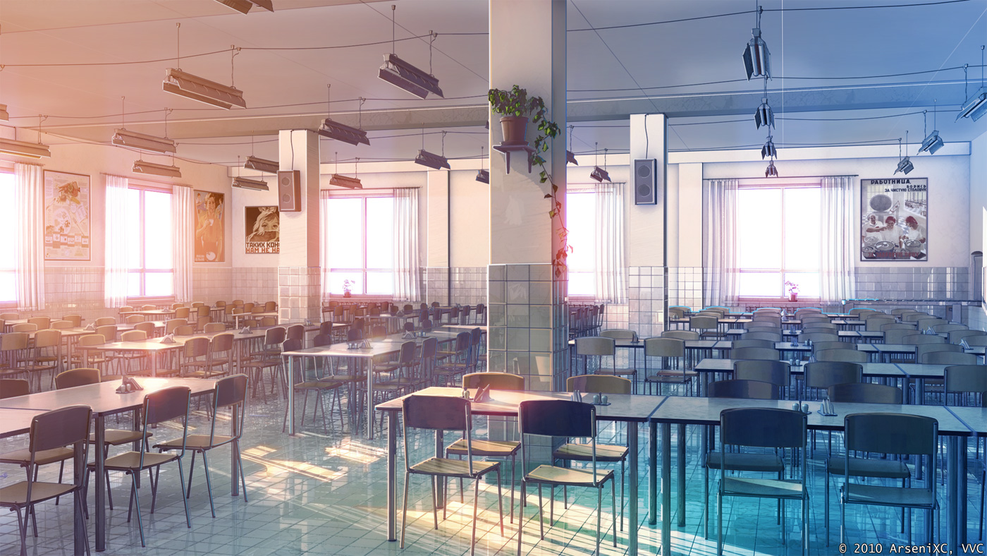 Canteen inside by arsenixc