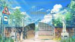 Summer camp gate