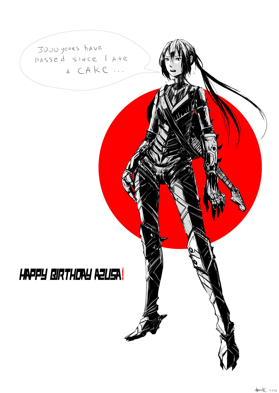 Azusa Birthday.. eeeh? by arsenixc