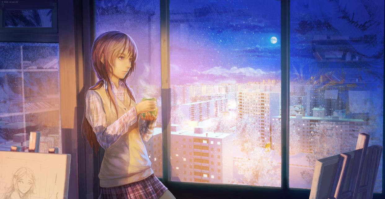 Night teabreak by arsenixc