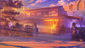 Himitsu House sunset