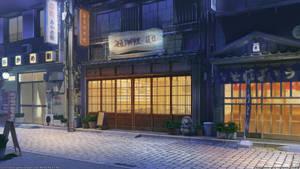 Restaurant street night