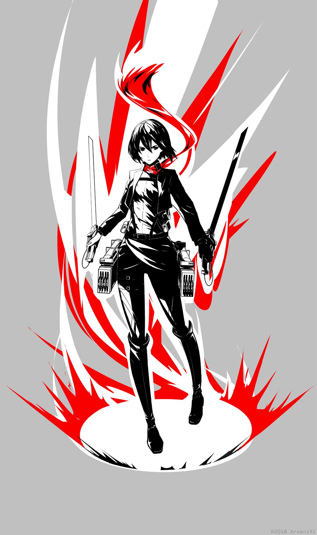 Mikasa Ackerman by arsenixc