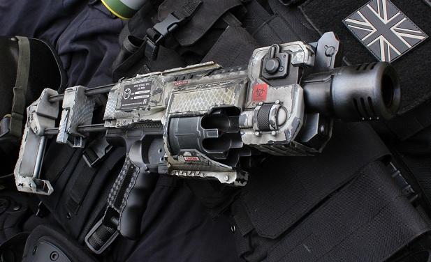 Nerf Paintjobs » Nerf Recon M4 Desert Scheme