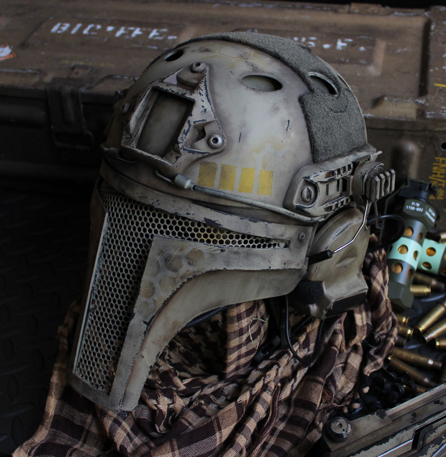 Airsoft Tactical helmet commission by dog-green-1