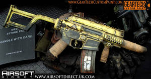 Custom painted airsoft M4 pdw