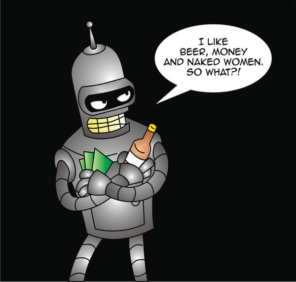 bender - futurama by moonlightwatcher