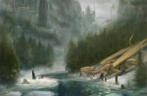 encounter in the snow by GreenViggen