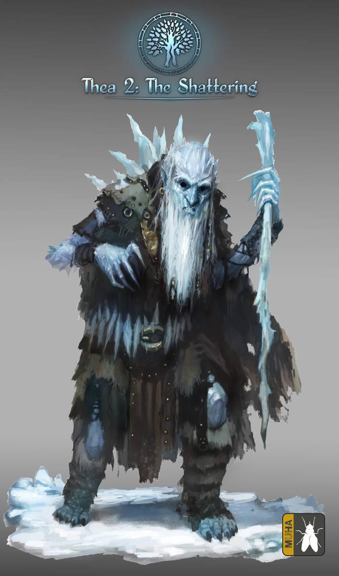 winter cold old man by GreenViggen