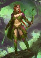 Half elf mage druid (commission )  by GreenViggen