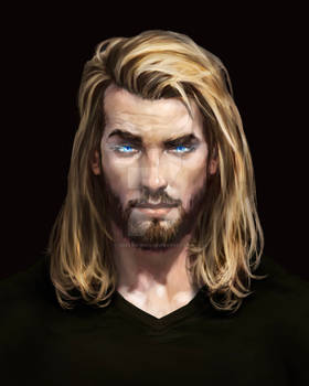 5 Thor Like Character (commisioned art)