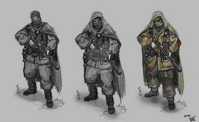 Soviet Commando Dieselpunk  (commissioned art) WiP