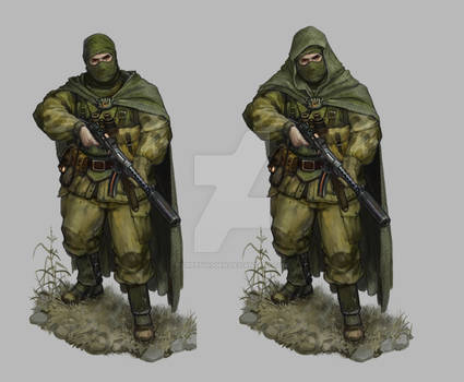 Soviet Commando Hood Off And On final (commission)