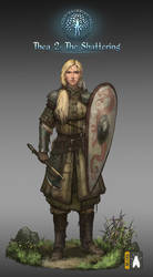 Female Wrrior With Small Axe Low