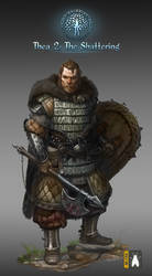 WARRIOR two handed axe captain low