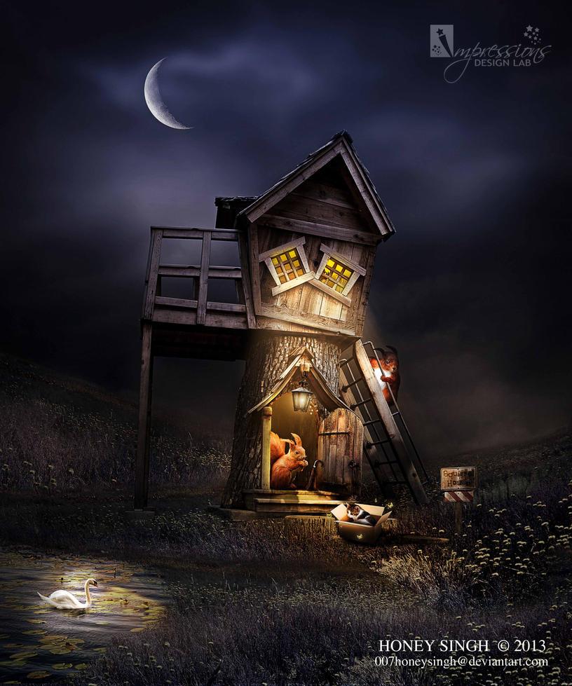 Squirrel House by 007HoneySingh