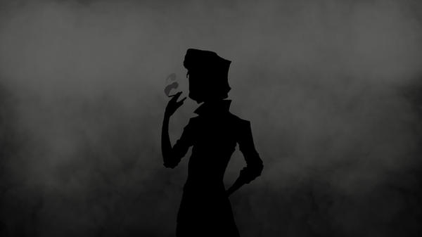 Holden Caulfield Silhouette Smoke Wallpaper by NextPhaseDesign
