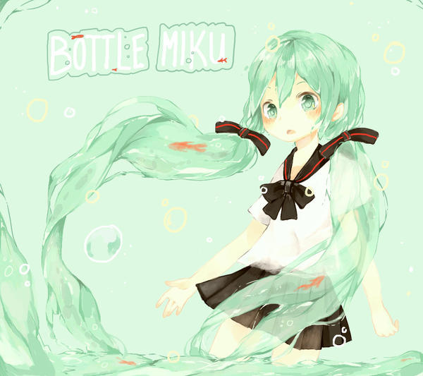 Bottle Miku by Nelfi