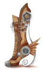 Steampunk Long Fall Boot by Cassandra-Borealis