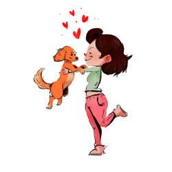 Myself and Dog