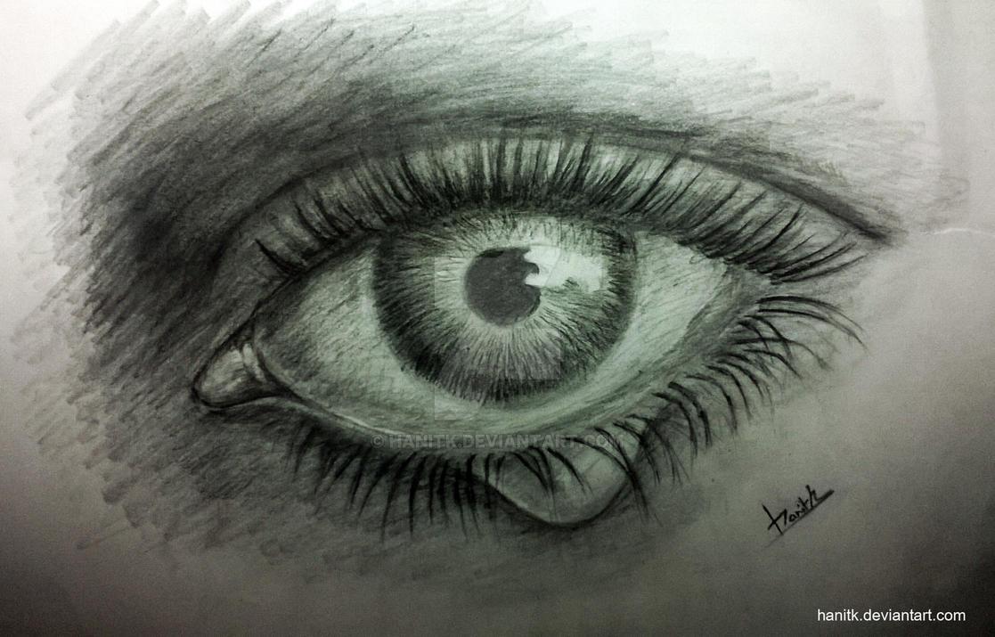 Realistic Eye with Teardrop by hanitk on DeviantArt