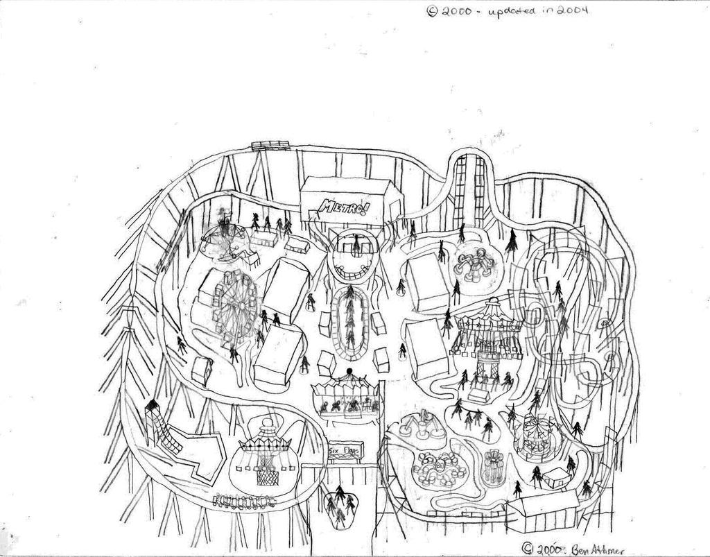 My first drawn theme park by neb2008 on deviantart for Amusement park coloring pages