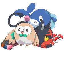 Pokemon Sun and Moon Starters by pandachick700