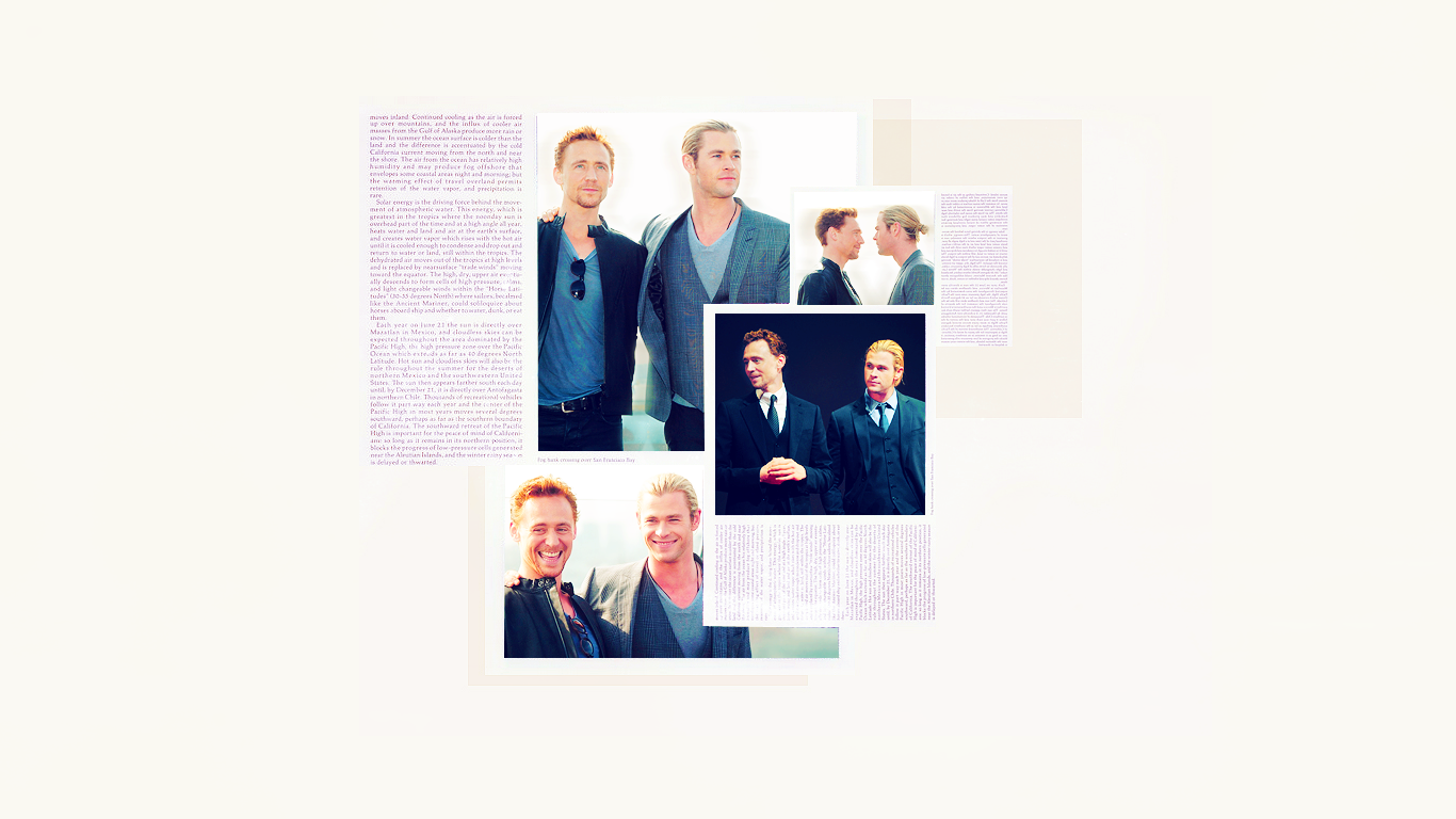 Tom Hiddleston and Chris Hemsworth Wallpaper by ...