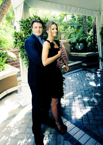 Nathan fillion and stana katic behind the scenes - photo#20