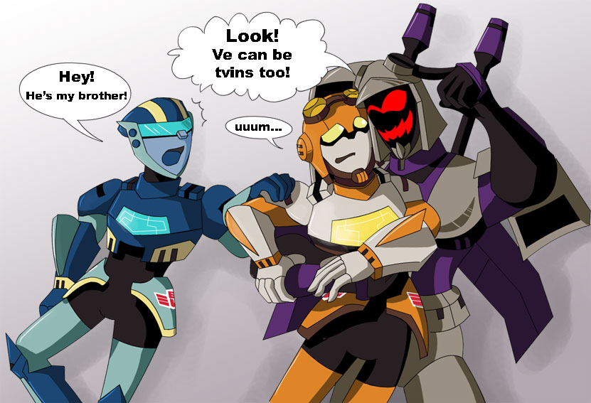 Blitzwing and Jet-Twins by bbpuyo