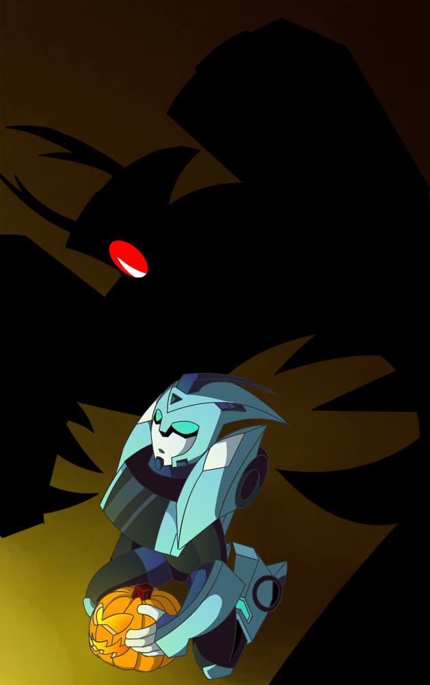 Shockwave and Blurr Halloween by bbpuyo