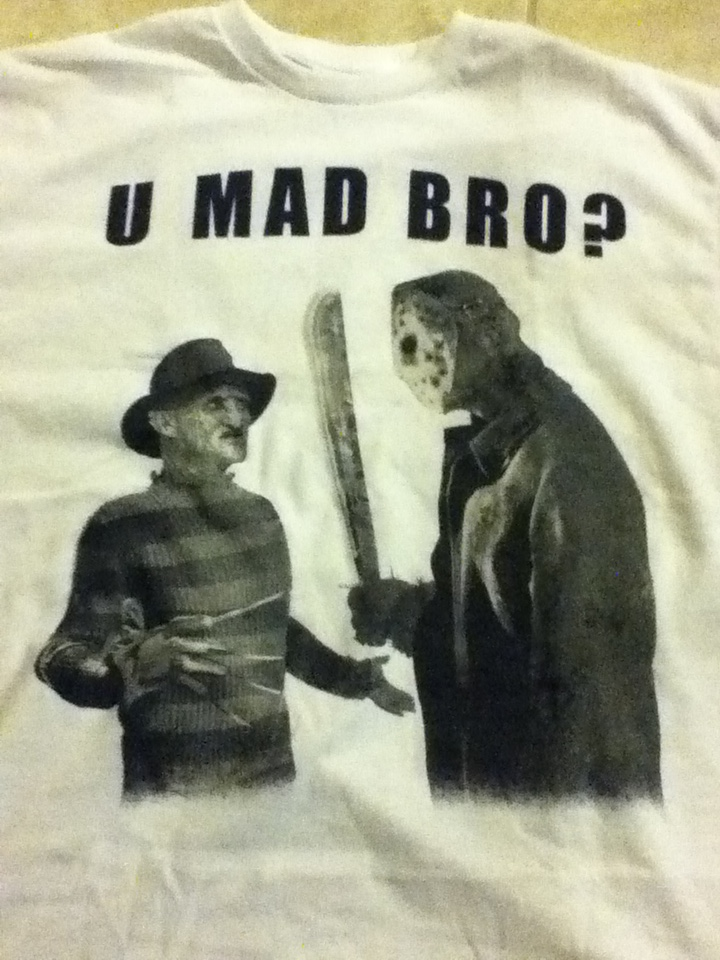 My new shirt freddy and jason you mad bro by ResidentEvilhunters