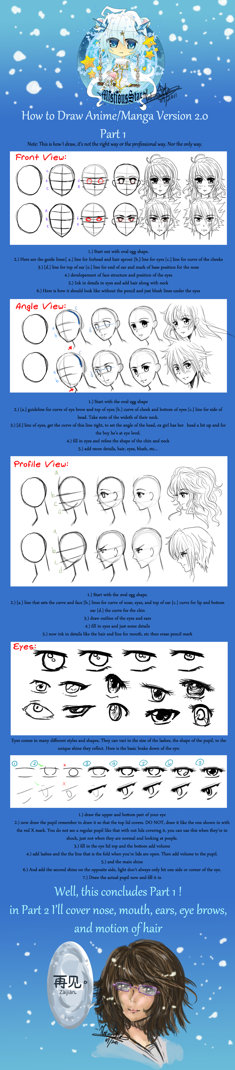 How to draw Manga Tutorial by MistiousStar