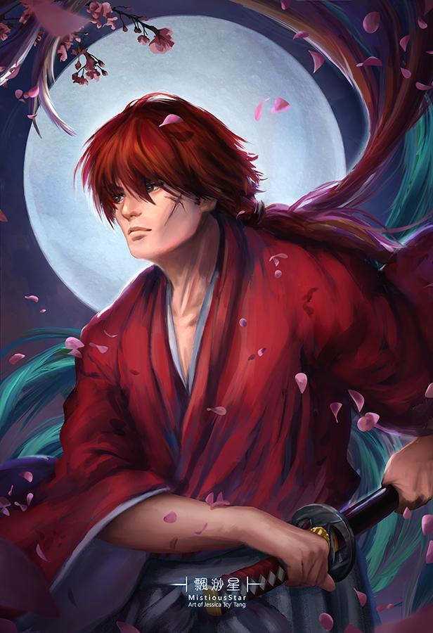 Kenshin Himura The Swordsman with a Scar by MistiousStar