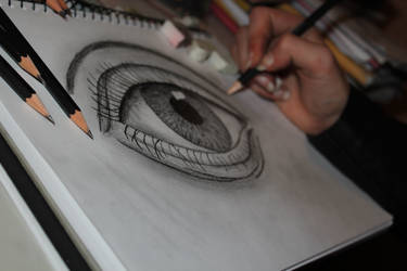 Drawn Realistic Eye 2 by rake0062