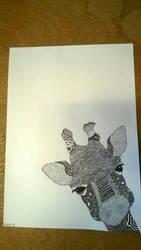 Drawn Zentangle Giraffe by rake0062