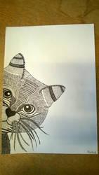 Drawn Zentangle Cat by rake0062