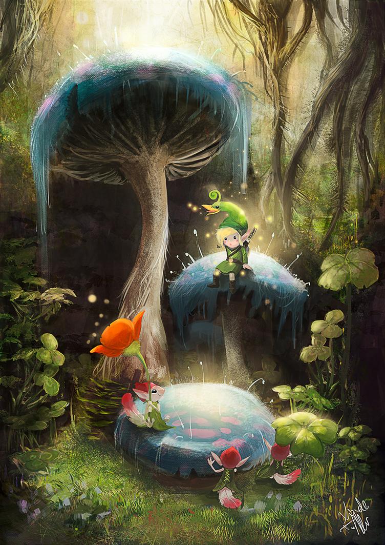 The legend of Zelda: Minish Cap by Enigmasystem