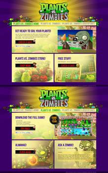 Plants vs. Zombies - Website