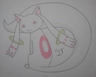 Fan Art February Day 11 - Kyubey by Quina-chan
