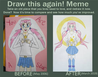 Draw this again! Meme - You Are A Star by Quina-chan