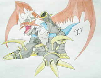 Digimon Fan Art - Imperialdramon by Quina-chan