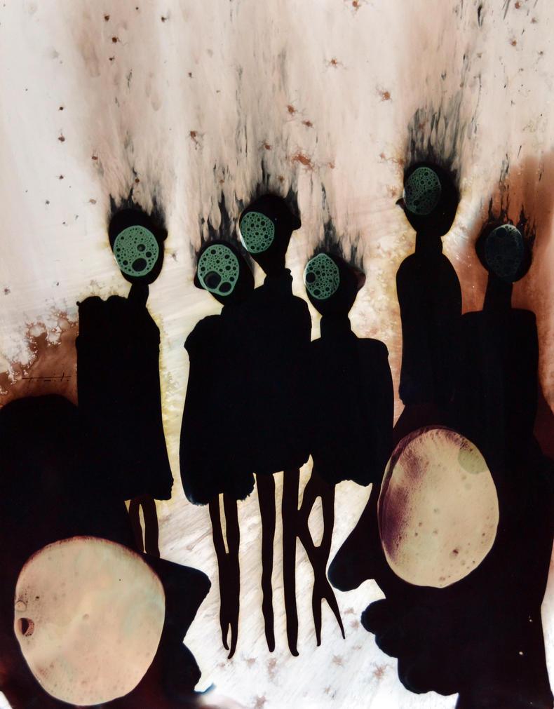 GALLERY NIGHT.Painting by Jose Tonito. by JoseTonito