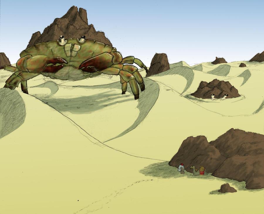 Giant Horseshoe Crab Giant Sand Crab