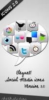 Elegant Social Media Icons-V2 by cheth