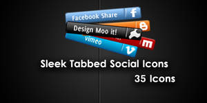 Sleek Social Network tab icons by cheth
