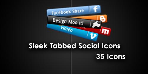 Sleek Social Network tab icons by cheth