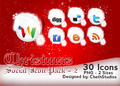 Christmas- Social Icons- 2