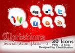 Christmas- Social Icons- 2 by cheth