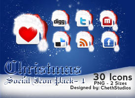 Christmas- Social Icons- 1 by cheth